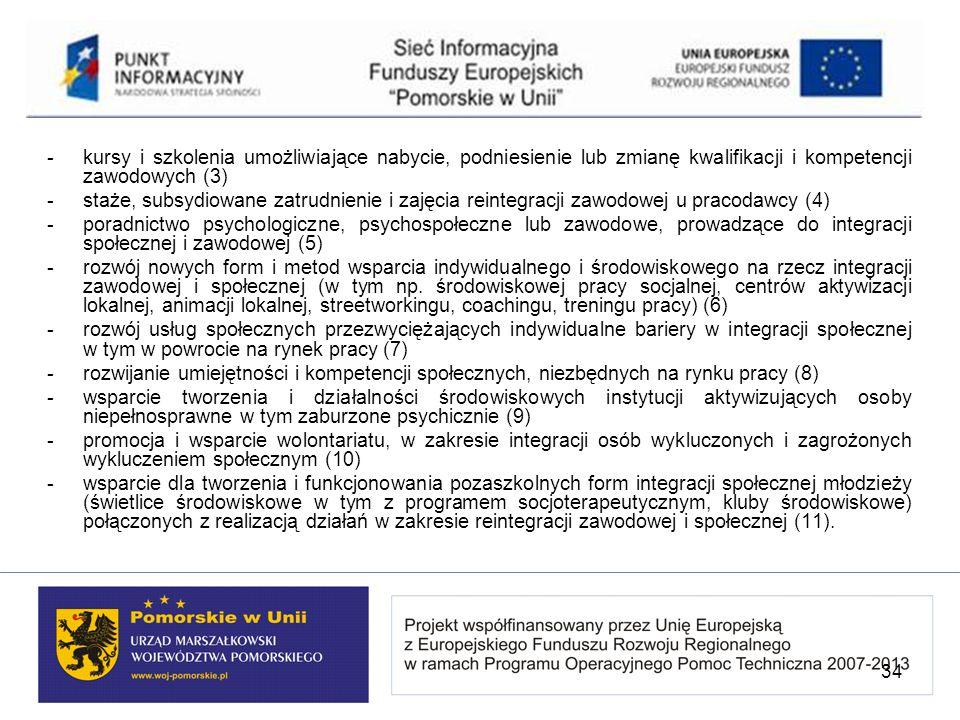 - kursy i szkolenia umożliwiające nabycie, podniesienie lub zmianę kwalifikacji i kompetencji zawodowych (3)