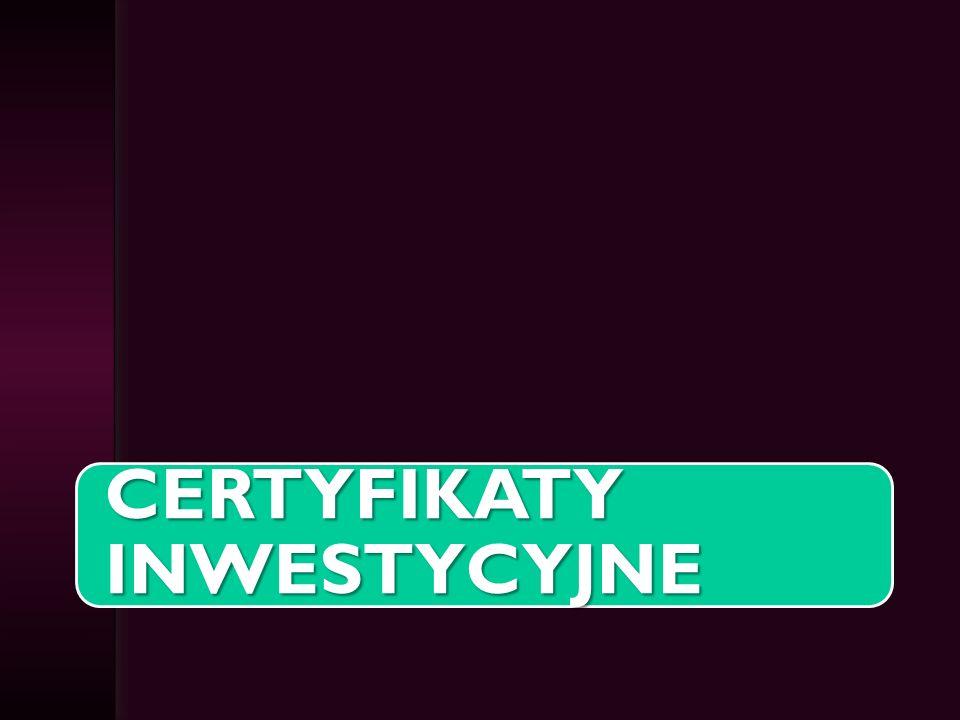 Certyfikaty inwestycyjne