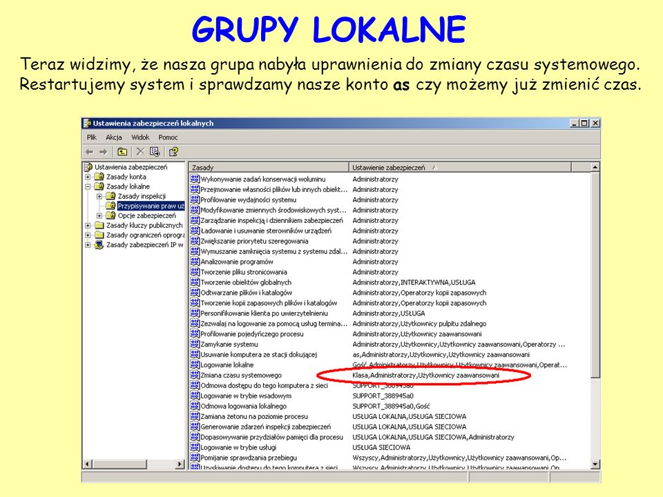 GRUPY LOKALNE