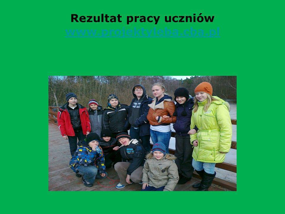 Rezultat pracy uczniów www.projektyleba.cba.pl