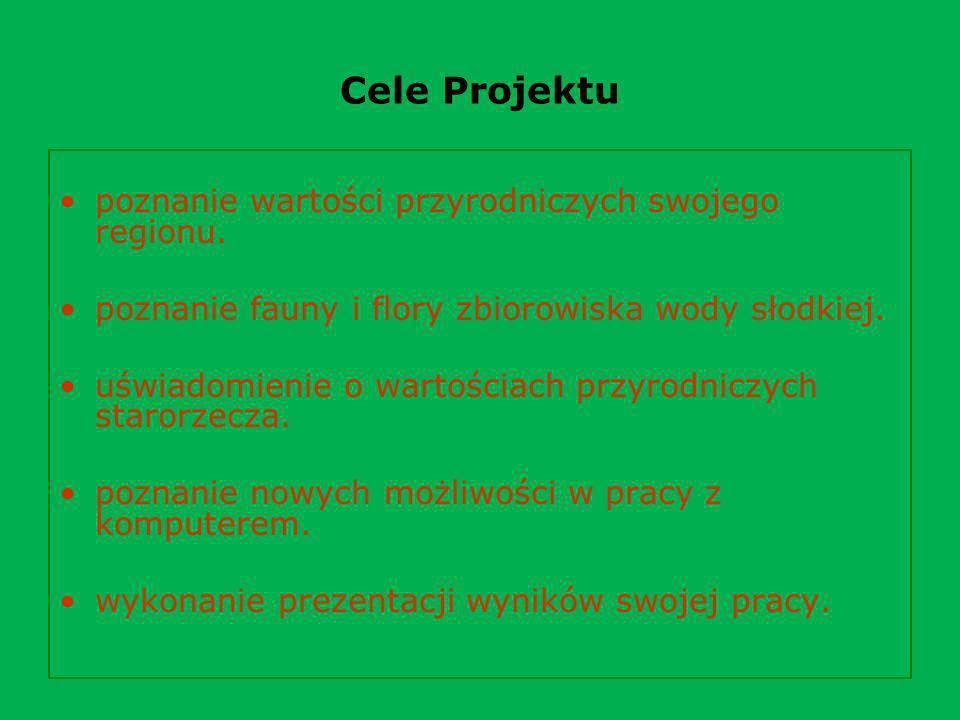 Cele Projektu poznanie wartości przyrodniczych swojego regionu.