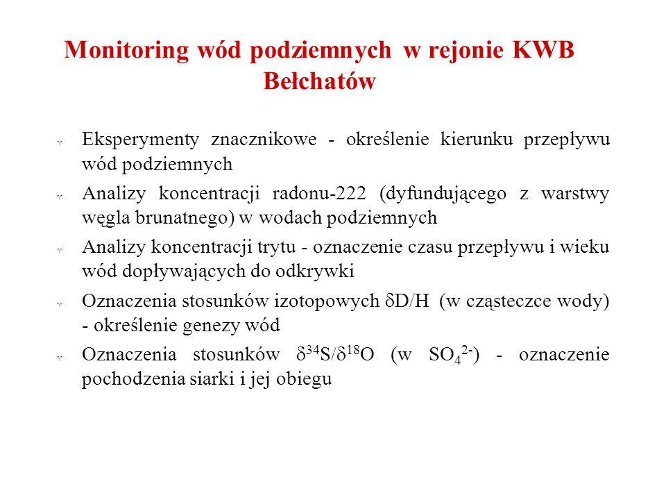 Monitoring wód podziemnych w rejonie KWB Bełchatów