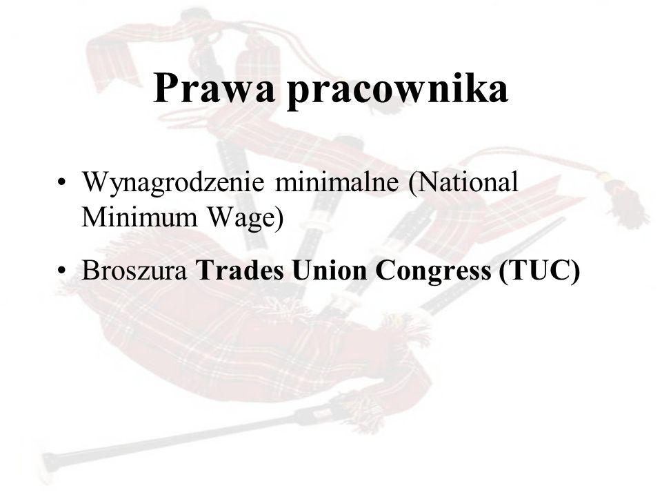 Prawa pracownika Wynagrodzenie minimalne (National Minimum Wage)