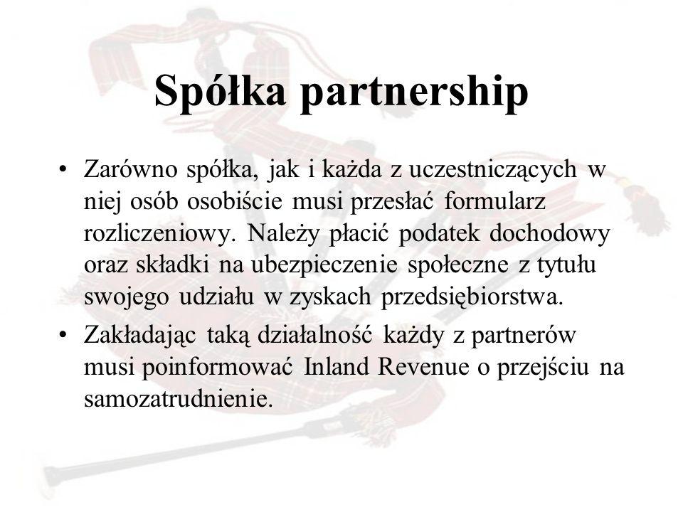 Spółka partnership