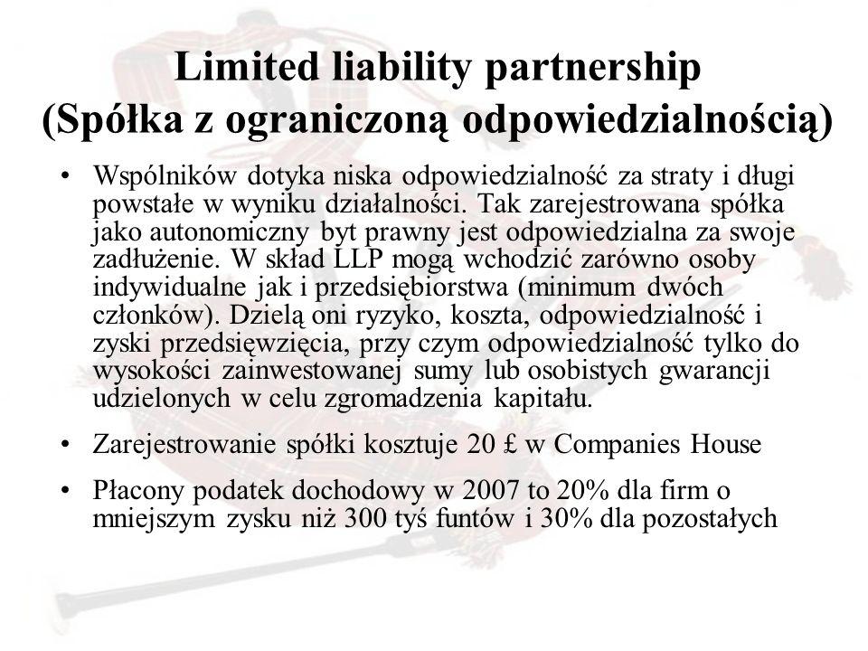 Limited liability partnership (Spółka z ograniczoną odpowiedzialnością)