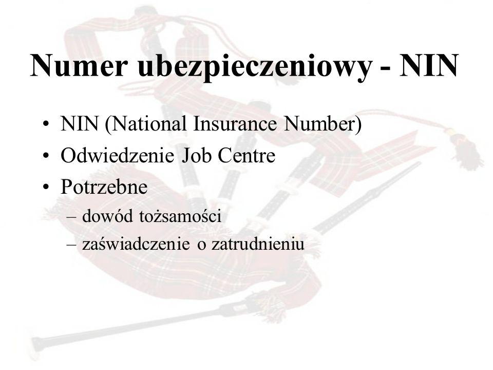 Numer ubezpieczeniowy - NIN