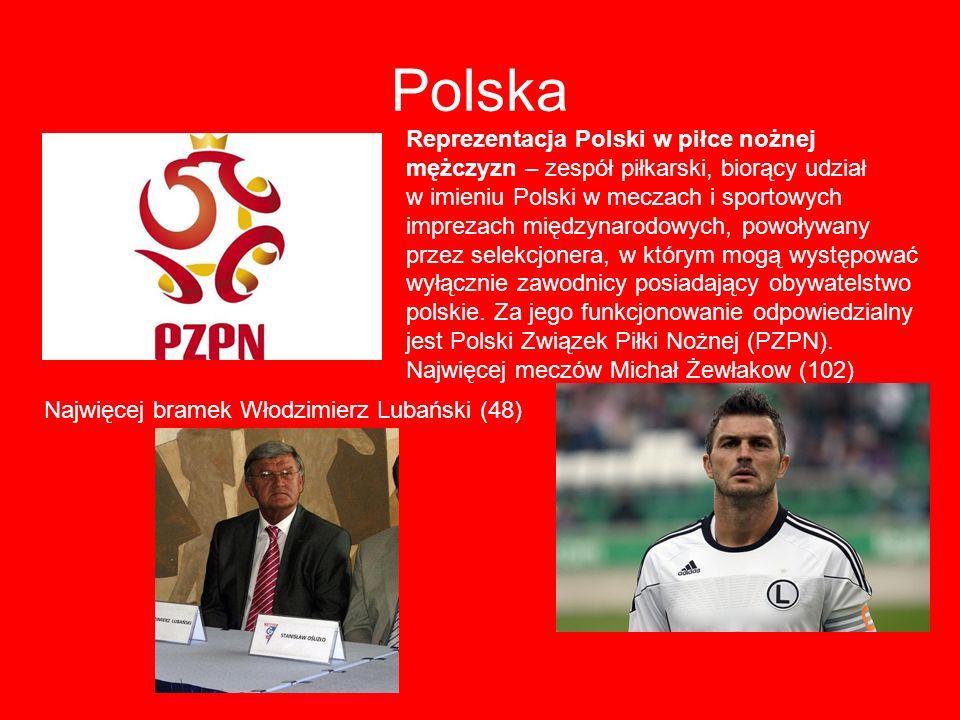 Polska Reprezentacja Polski w piłce nożnej mężczyzn – zespół piłkarski, biorący udział.