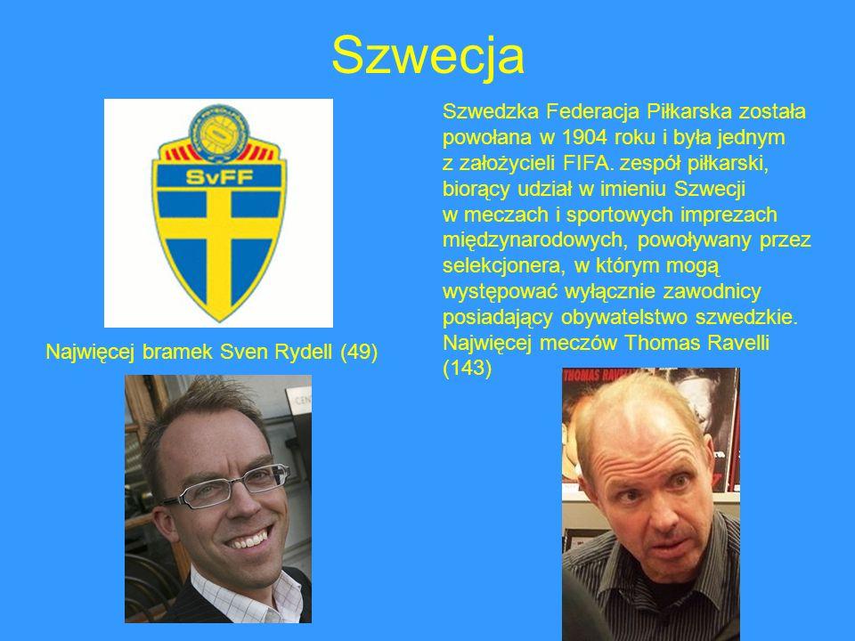 Szwecja Szwedzka Federacja Piłkarska została powołana w 1904 roku i była jednym.