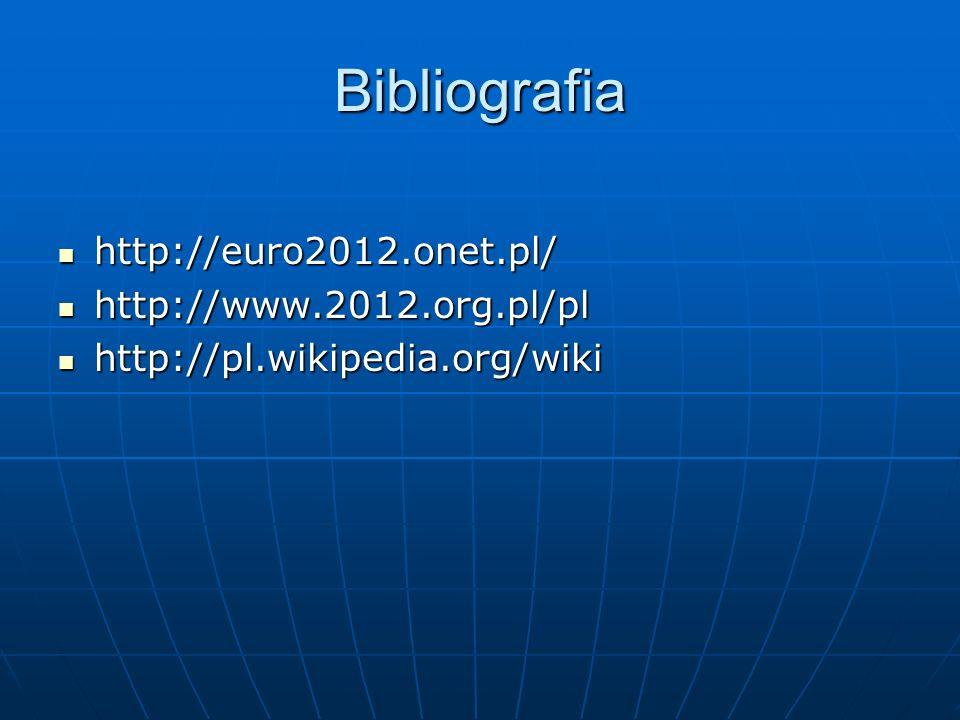 Bibliografia http://euro2012.onet.pl/ http://www.2012.org.pl/pl