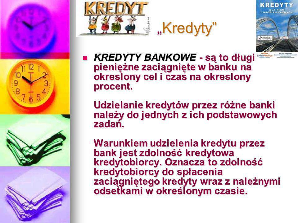 """""""Kredyty"""