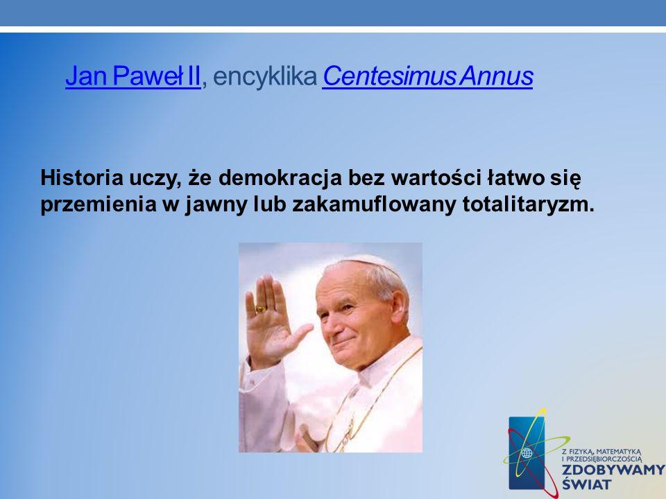 Jan Paweł II, encyklika Centesimus Annus