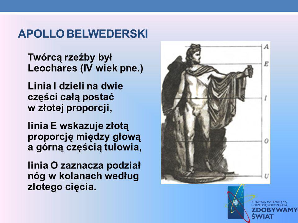 Apollo Belwederski Twórcą rzeźby był Leochares (IV wiek pne.)