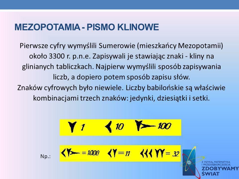 MEZOPOTAMIA - pismo klinowe