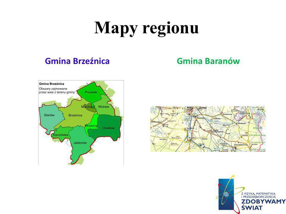 Mapy regionu Gmina Brzeźnica Gmina Baranów