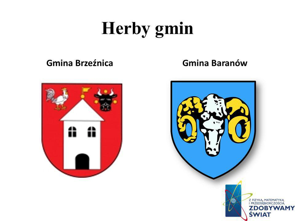 Herby gmin Gmina Brzeźnica Gmina Baranów