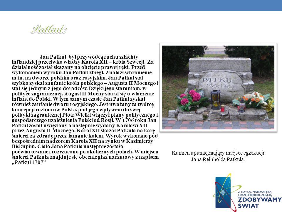 Patkul: Kamień upamiętniający miejsce egzekucji