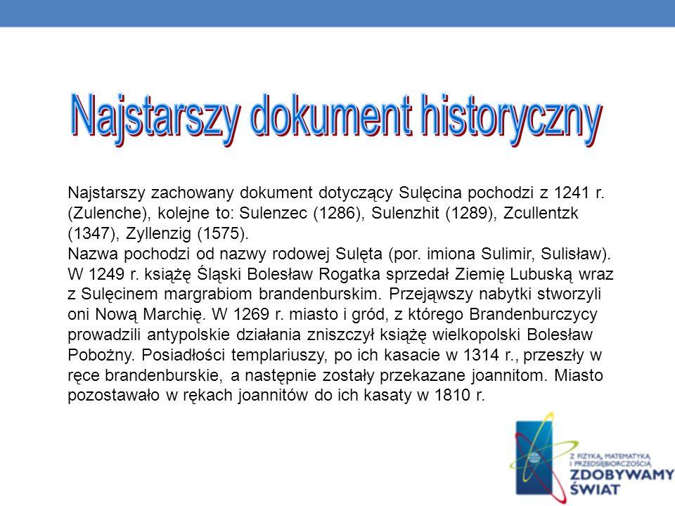 Najstarszy dokument historyczny
