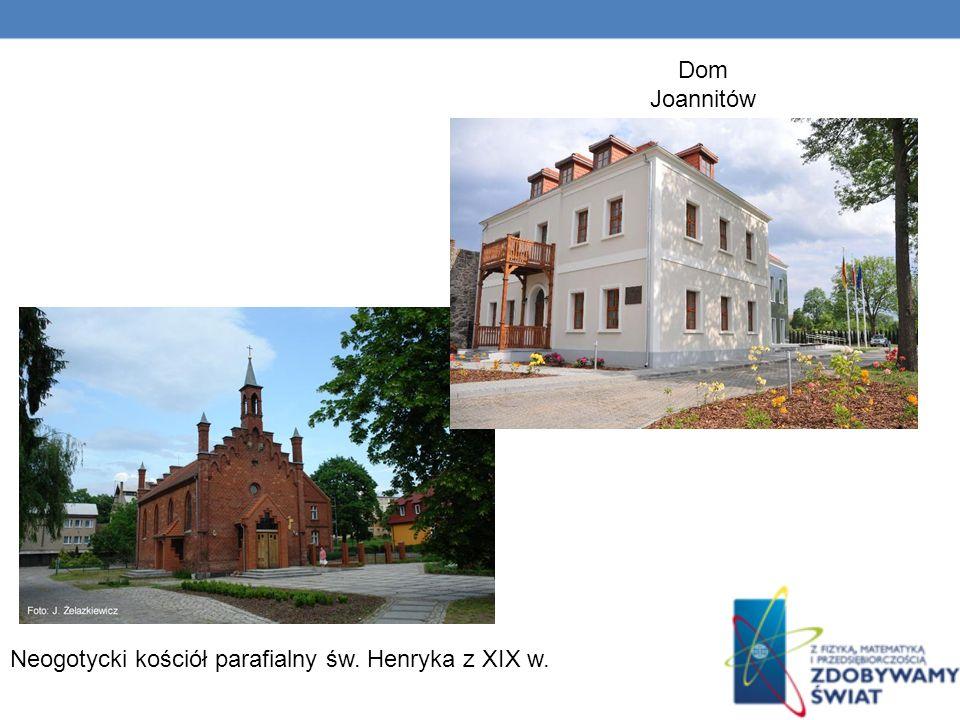 Dom Joannitów Neogotycki kościół parafialny św. Henryka z XIX w.