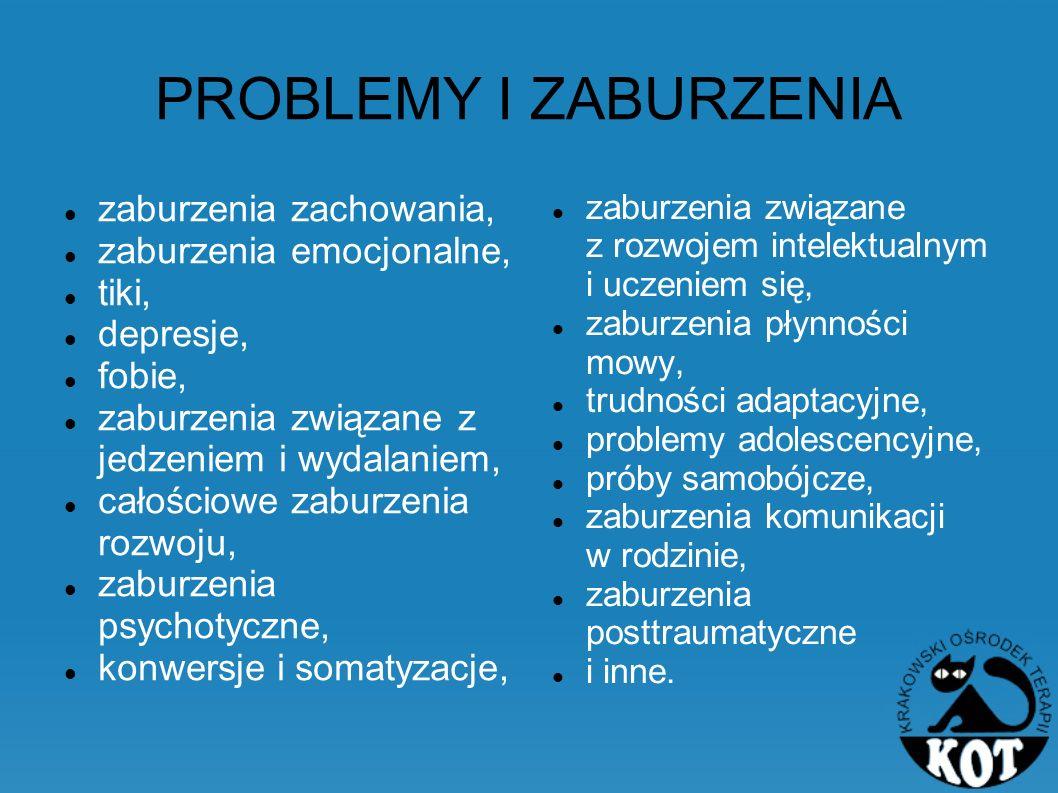 PROBLEMY I ZABURZENIA zaburzenia zachowania, zaburzenia emocjonalne,