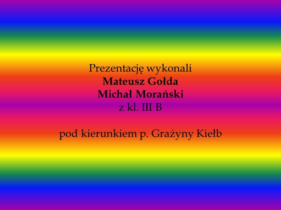 Prezentację wykonali Mateusz Gołda Michał Morański z kl