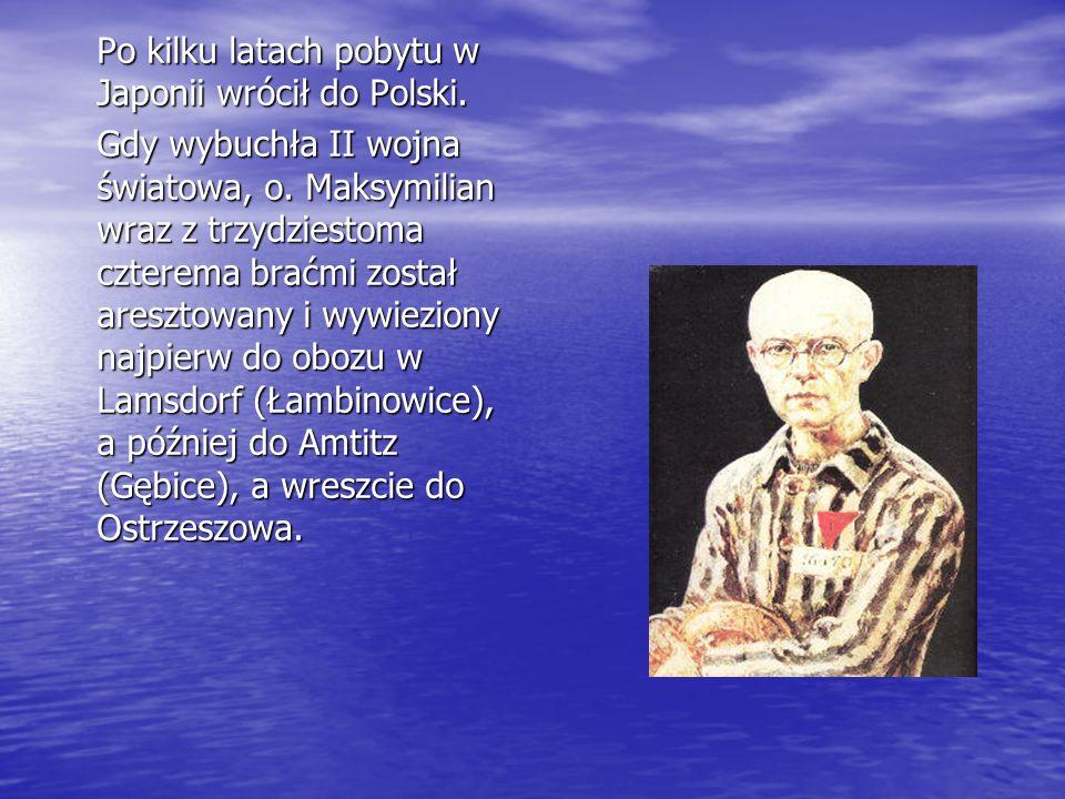 Po kilku latach pobytu w Japonii wrócił do Polski.