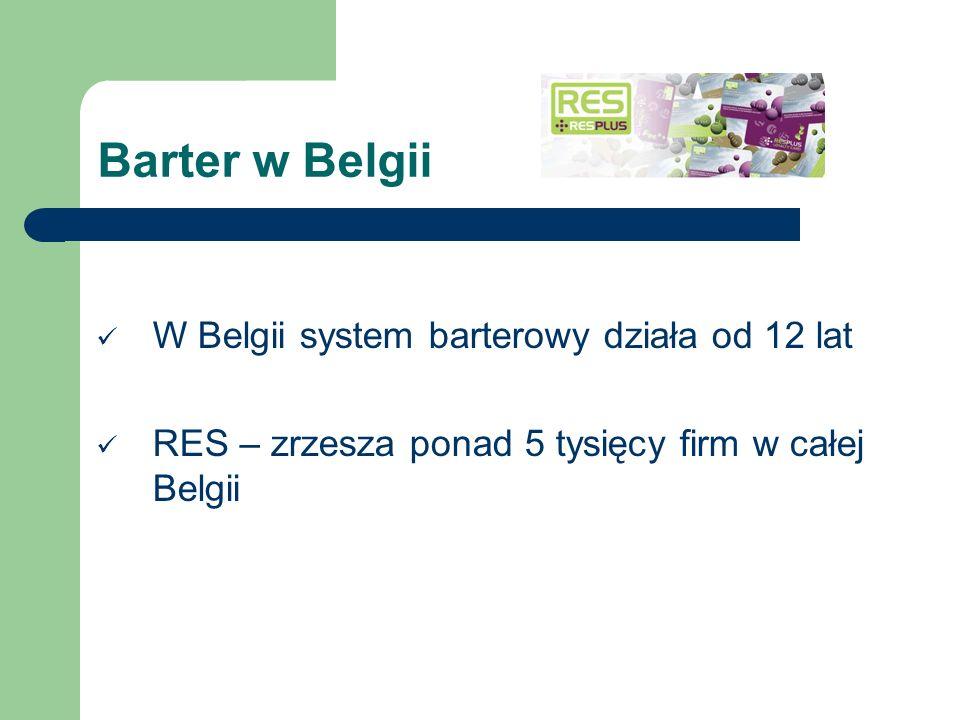 Barter w Belgii W Belgii system barterowy działa od 12 lat