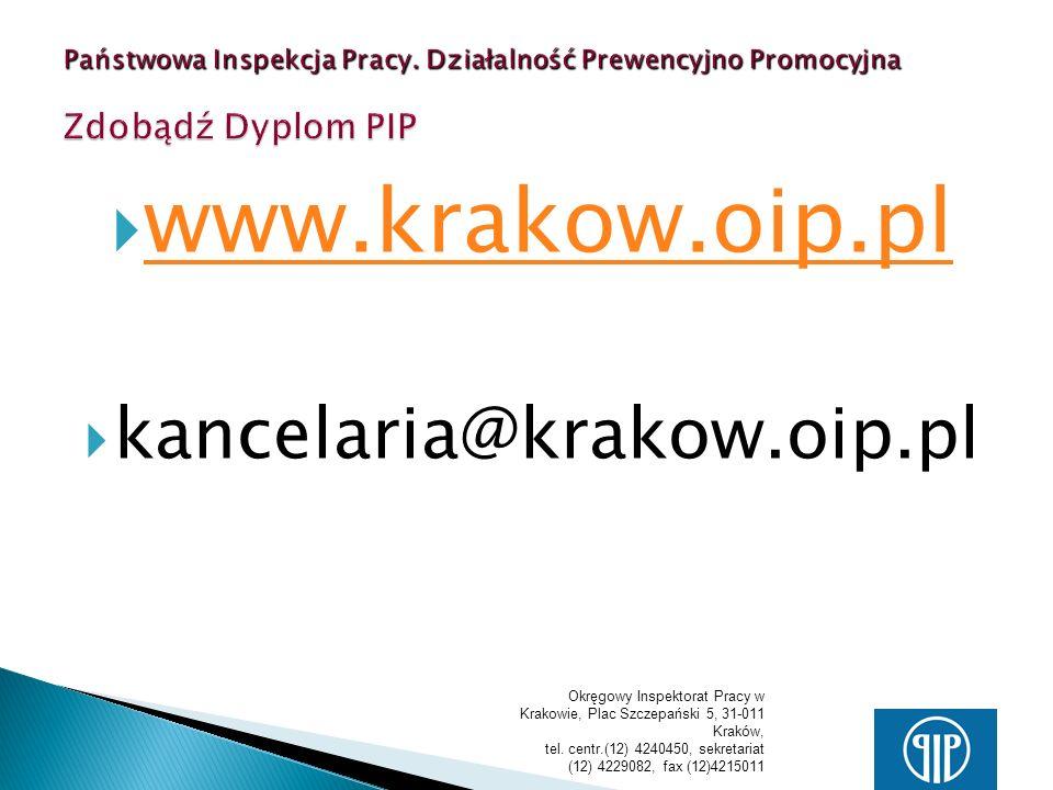 www.krakow.oip.pl kancelaria@krakow.oip.pl