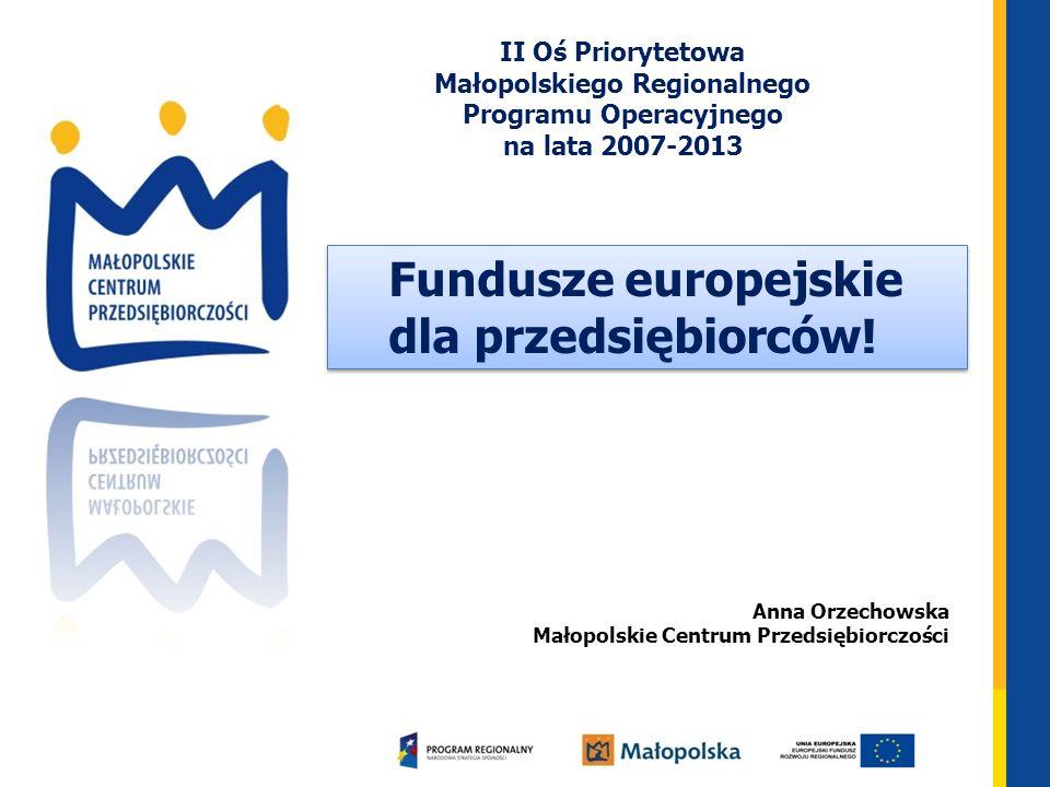 Fundusze europejskie dla przedsiębiorców!