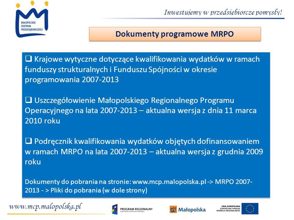 Dokumenty programowe MRPO
