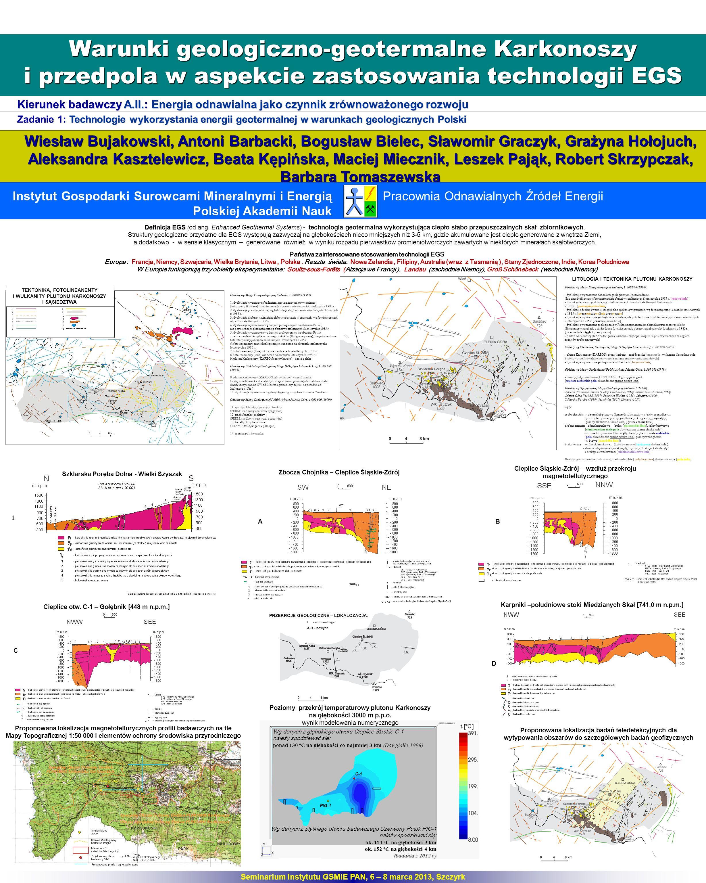 Warunki geologiczno-geotermalne Karkonoszy i przedpola w aspekcie zastosowania technologii EGS