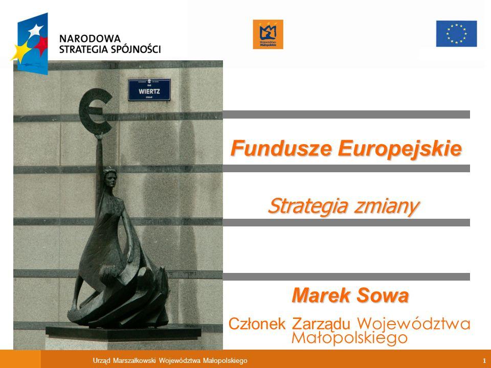 Fundusze Europejskie Strategia zmiany Marek Sowa
