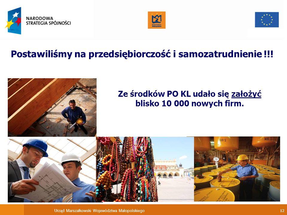 Ze środków PO KL udało się założyć blisko 10 000 nowych firm.