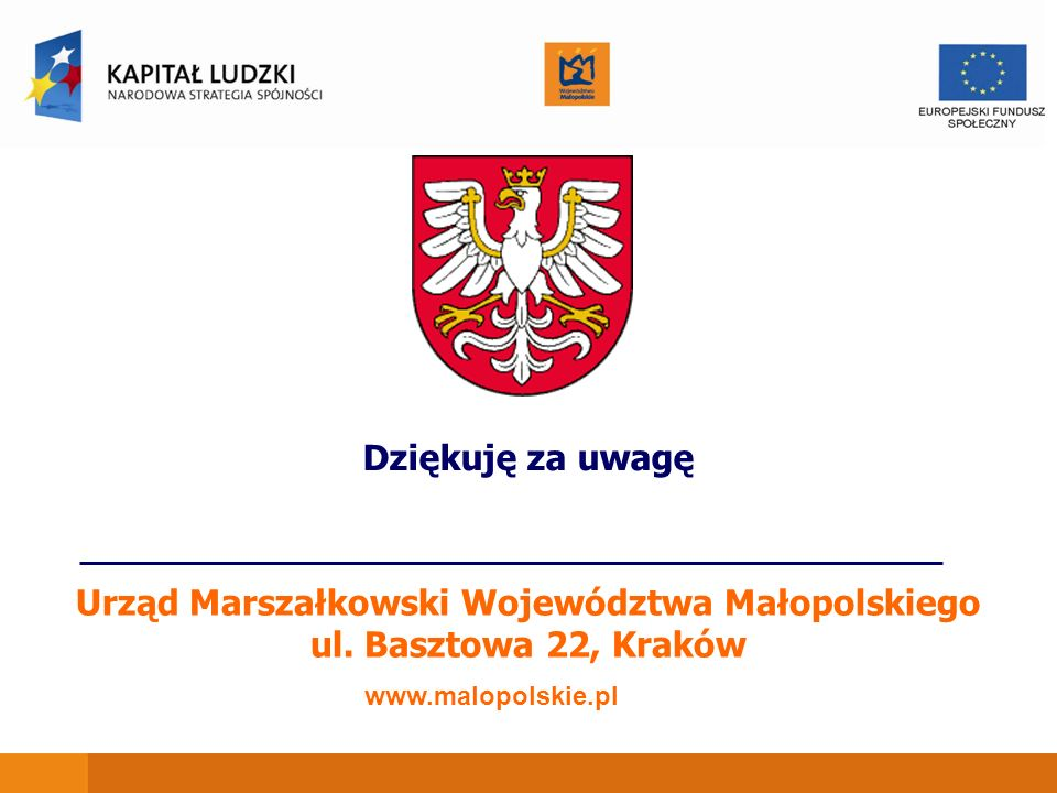 Urząd Marszałkowski Województwa Małopolskiego ul. Basztowa 22, Kraków