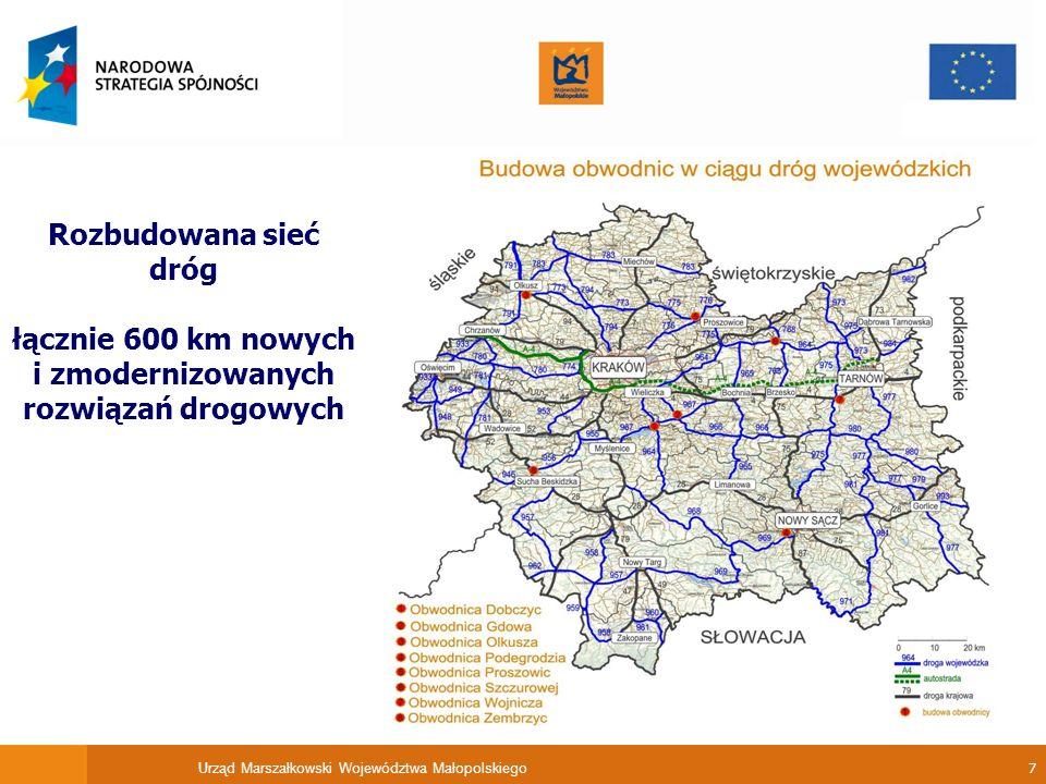 łącznie 600 km nowych i zmodernizowanych rozwiązań drogowych