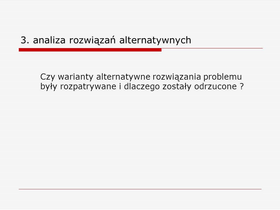 3. analiza rozwiązań alternatywnych