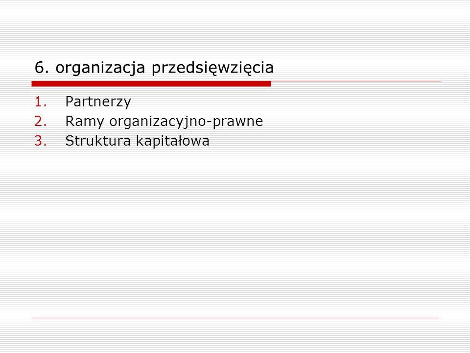 6. organizacja przedsięwzięcia