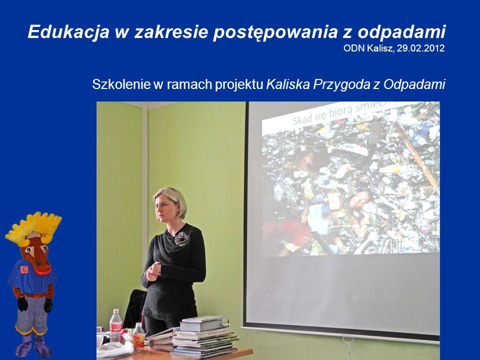 Edukacja w zakresie postępowania z odpadami