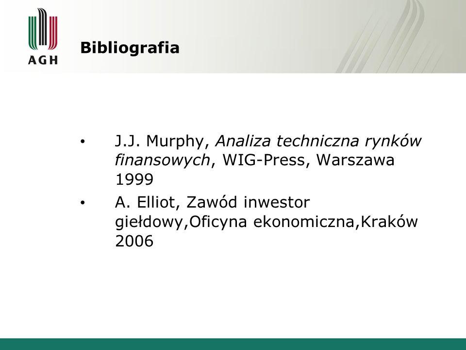 Bibliografia J.J. Murphy, Analiza techniczna rynków finansowych, WIG-Press, Warszawa 1999.