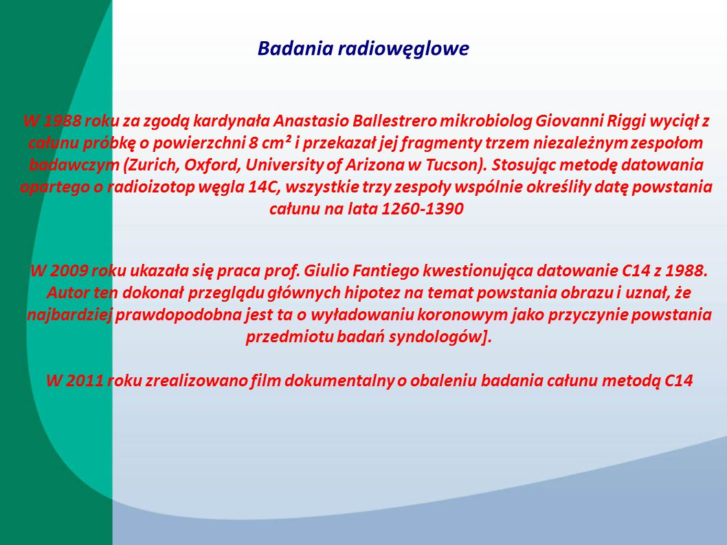 Badania radiowęglowe
