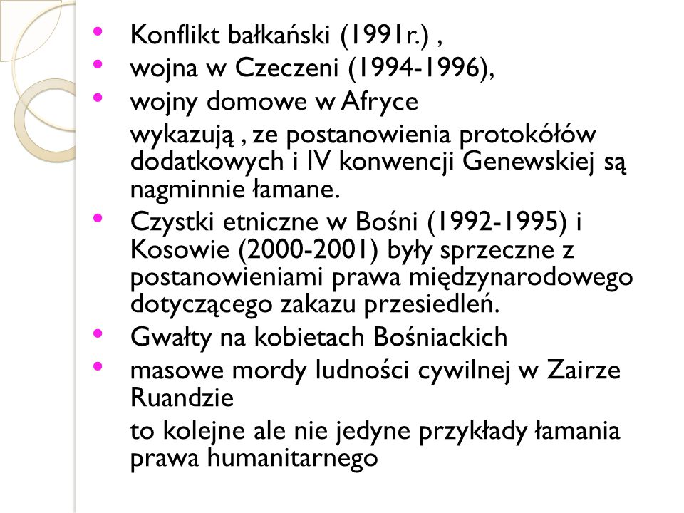 Konflikt bałkański (1991r.) ,