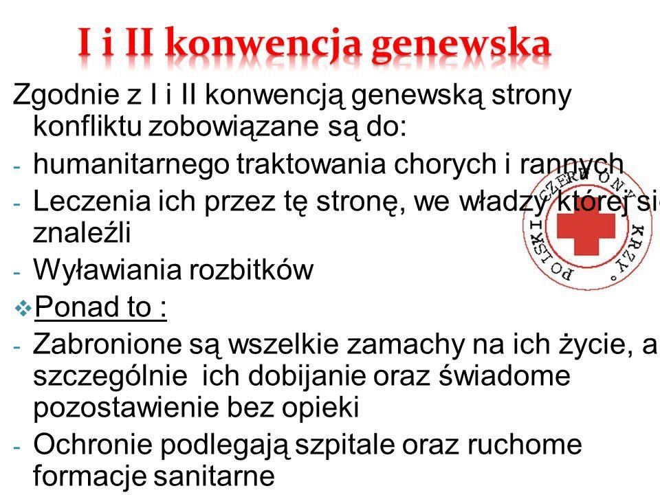 I i II konwencja genewska