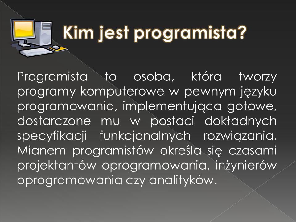 Kim jest programista