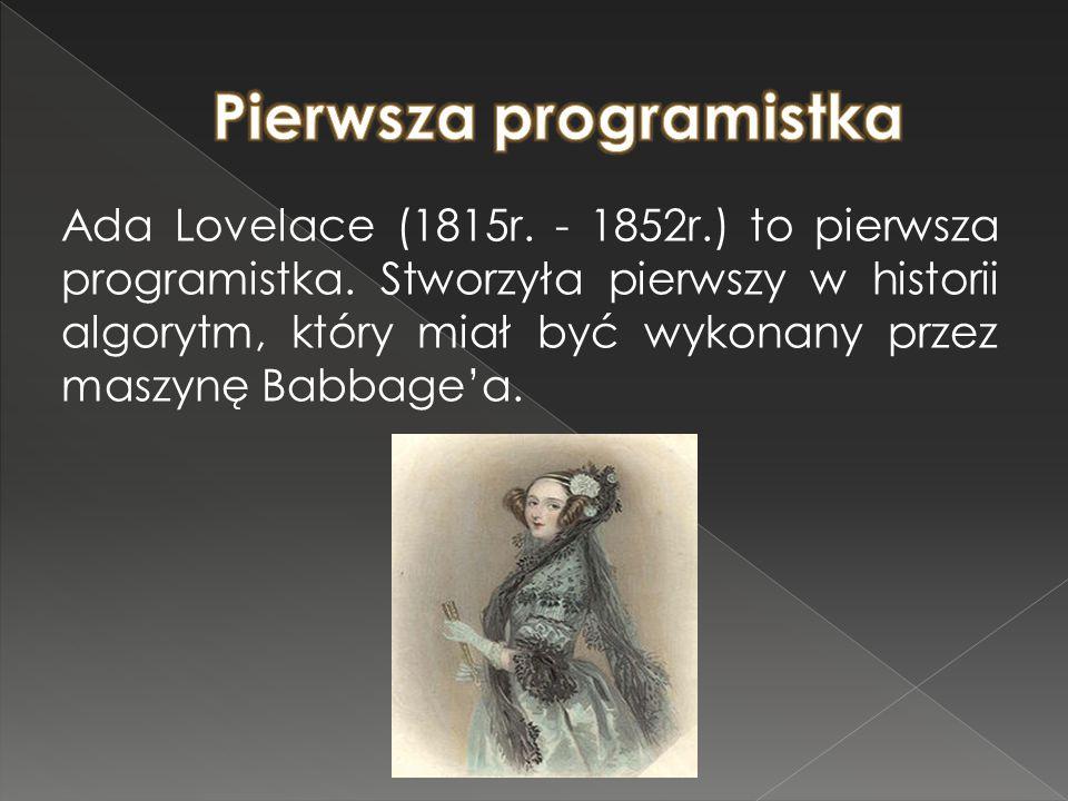Pierwsza programistka
