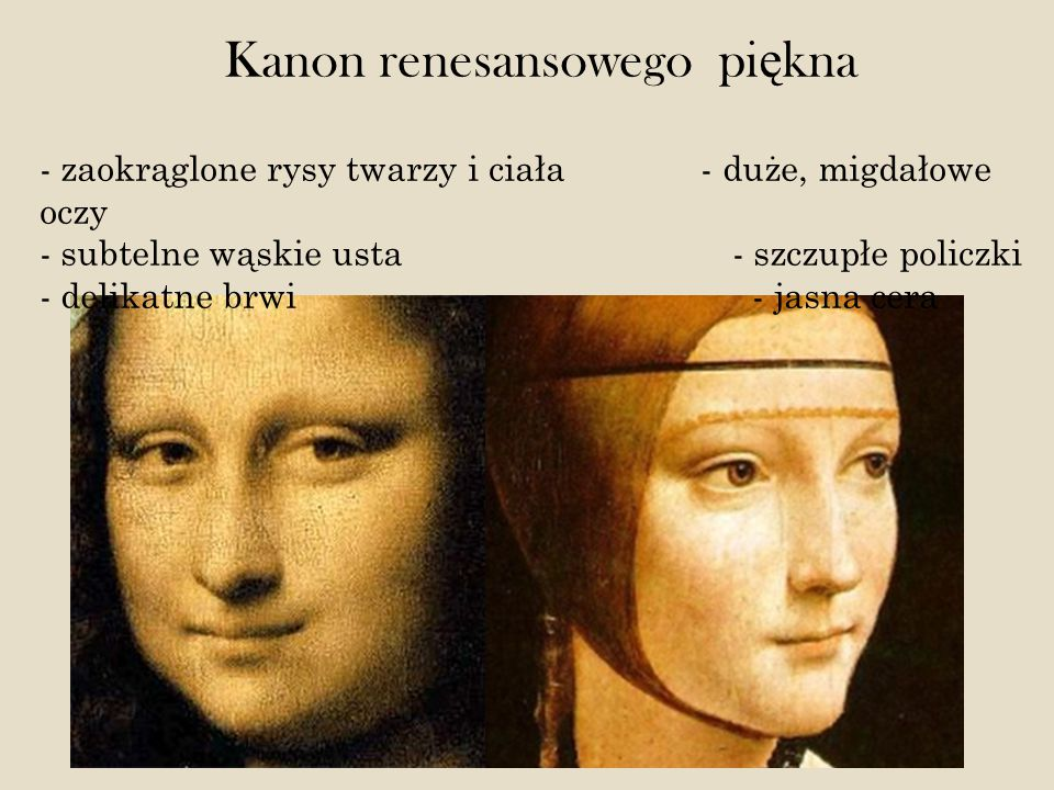 Kanon renesansowego piękna