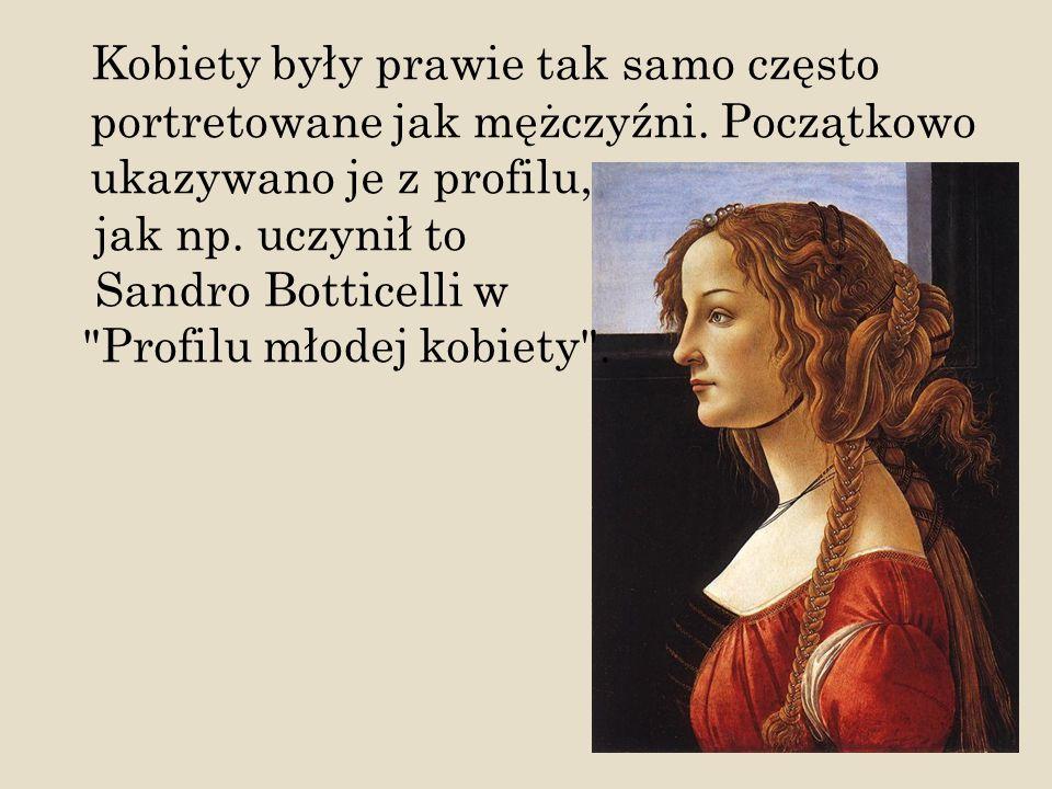 Kobiety były prawie tak samo często portretowane jak mężczyźni