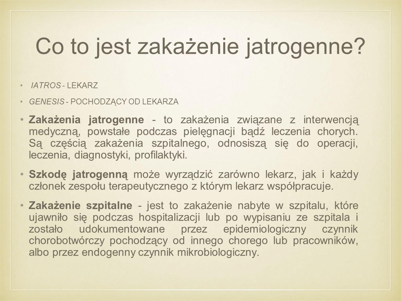 Co to jest zakażenie jatrogenne