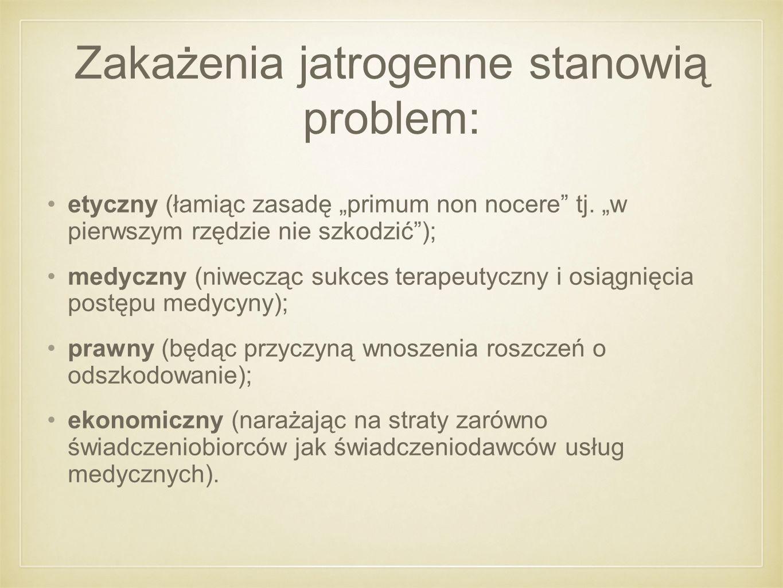 Zakażenia jatrogenne stanowią problem: