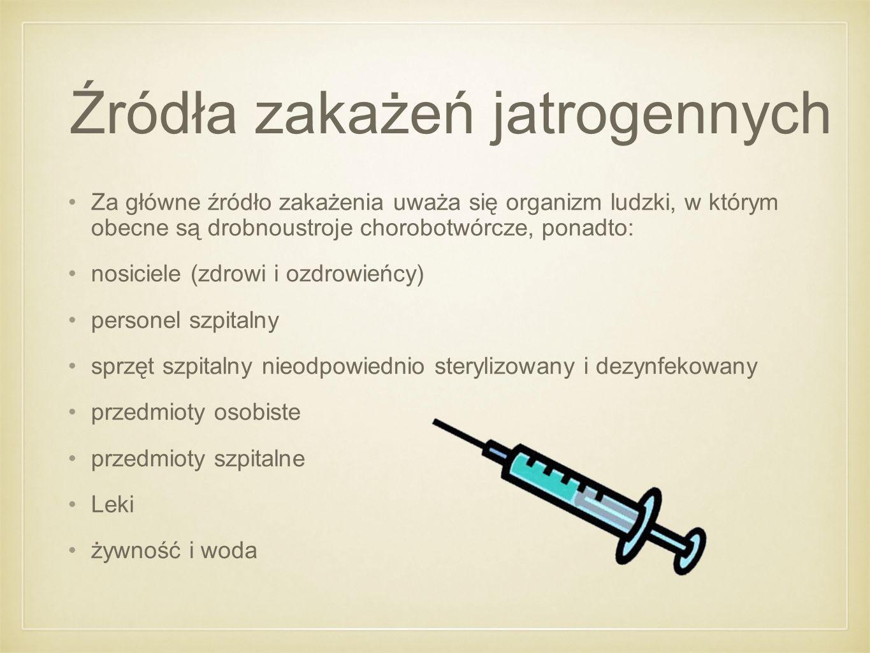 Źródła zakażeń jatrogennych