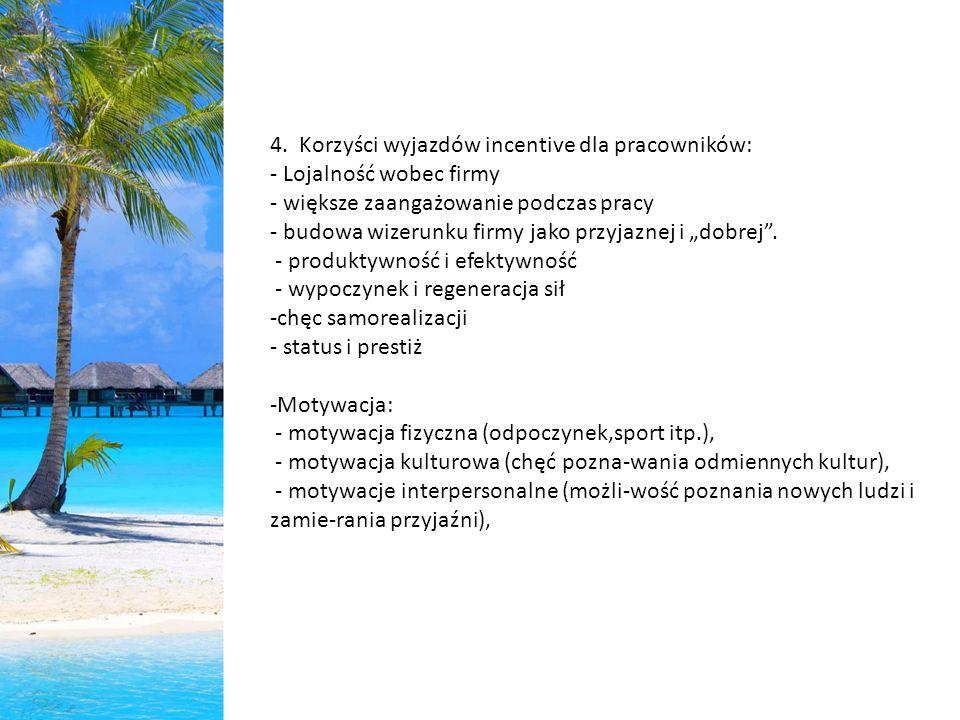 4. Korzyści wyjazdów incentive dla pracowników: