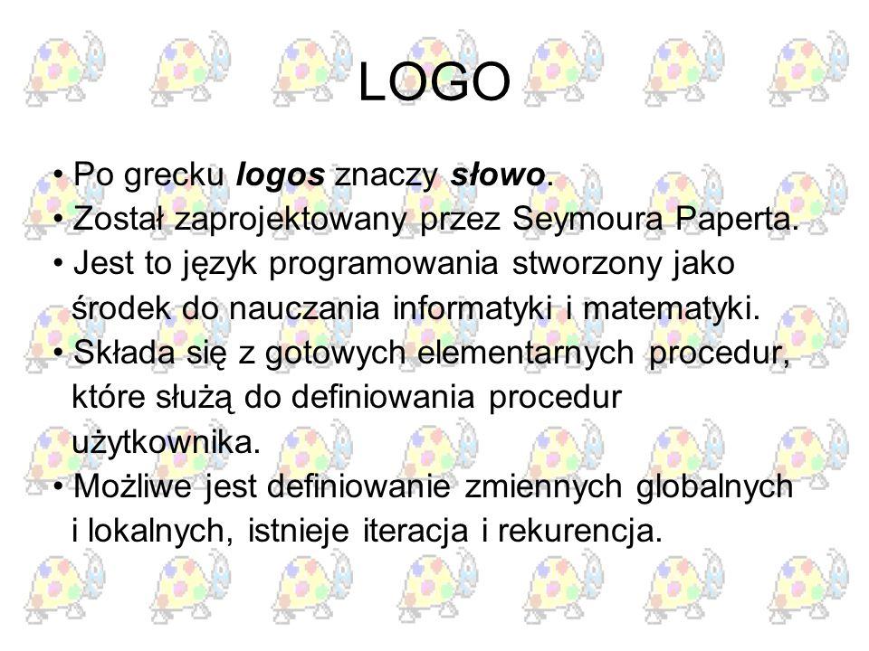 LOGO • Po grecku logos znaczy słowo.